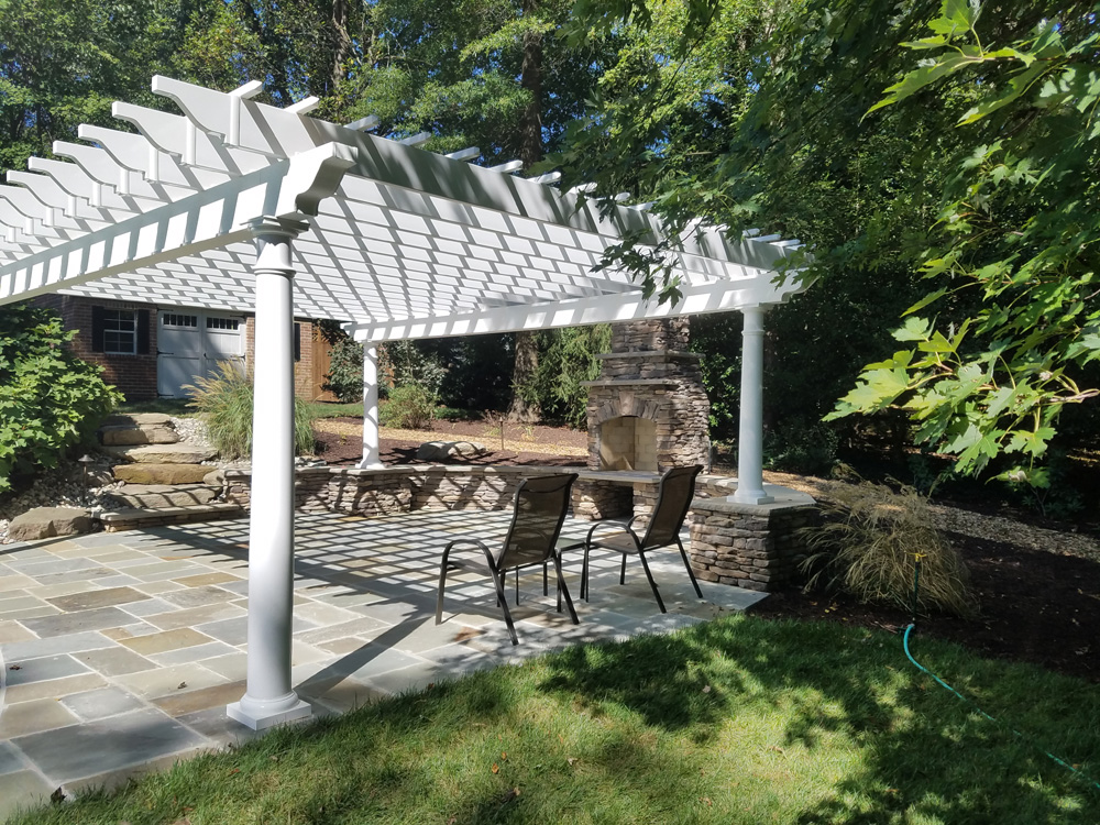Pergola Patio Fireplace Landscaping 1